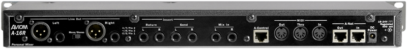 A-16R Rack-Mount Personal Mixer