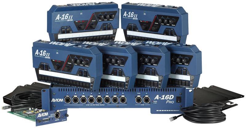 Aviom Products Mixing Systems Mix6y Six Mix Personal