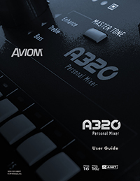 A320 Personal Mixer User Guide