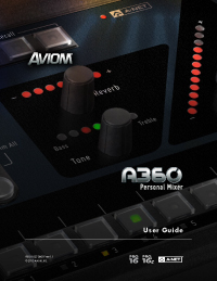 A360 Personal Mixer User Guide