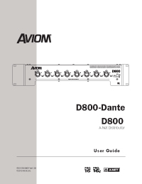 D800 and D800-Dante User Guide