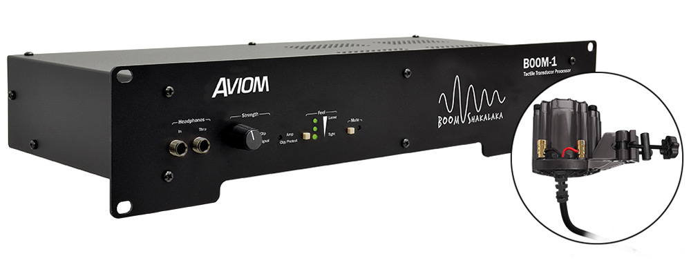 Aviom Products - BOOM-1 Tactile Transducer Processor