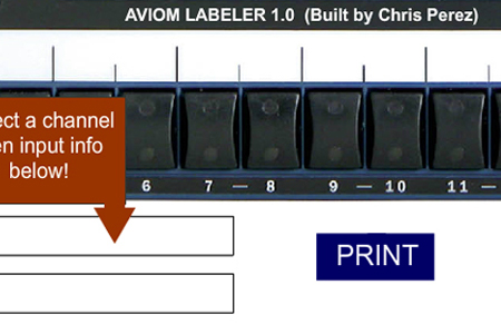 Aviom User Creates A-16II Labeling Program